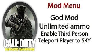 PS4 call of duty infinite warfare mod menu