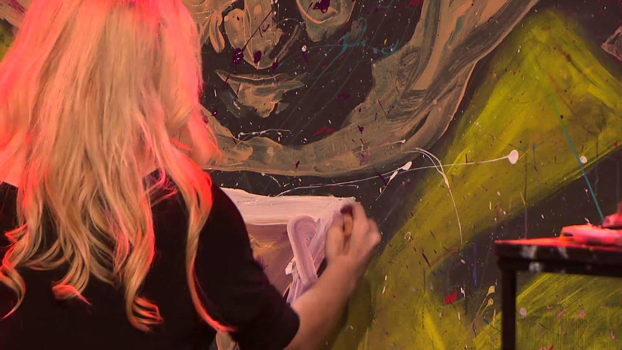 Jessica Haas. Speed Painting. Healing Place Church, Baton Rouge LA