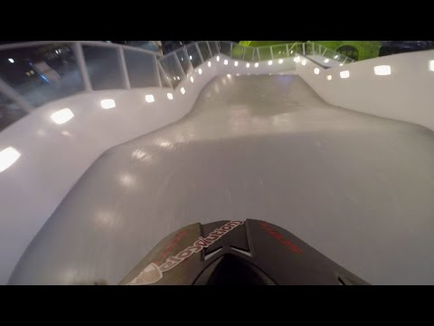 GoPro View: Claudio Caluori VS Reed Whiting in a Downhill Ice Cross Race