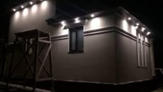 Подсветка фасада дома в ночное время(, 2016-07-04T06:51:45.000Z)