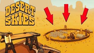 Нашел ТОПОР в ЗАБРОШЕННОМ ЛАГЕРЕ и Построил ВЕРСТАК! Выживание на ВОЗДУШНОМ ШАРЕ - Desert Skies #2