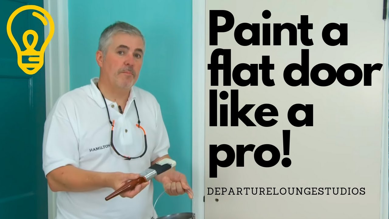 Painting a Flat door - YouTube