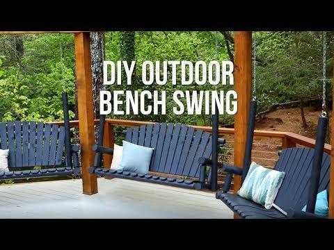 DIY Outdoor Bench Swing - DIY Network