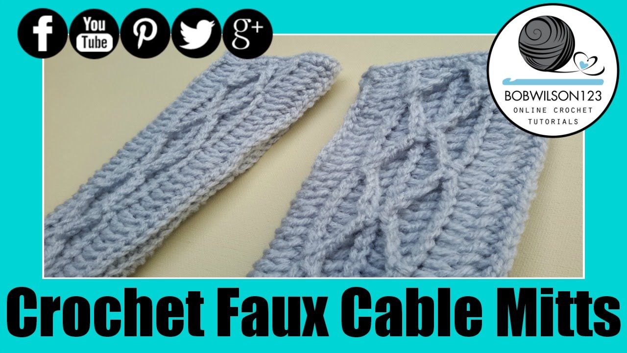 Faux Cable Gloves-crochetdreamz.blogspot.com.au
