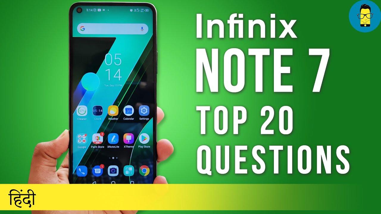 [हिंदी] Top 20 Questions on Infinix Note 7 - Har Sawaal Ka Jawaab!