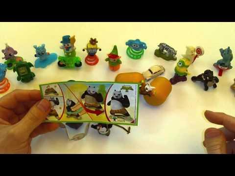 Распаковка Киндер Сюрприз серии Панда Кунг Фу 3Kinder Surprise Kung Fu Panda 3