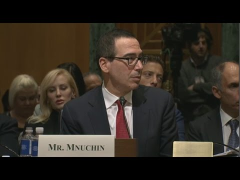 STEVEN MNUCHIN confirmation hearing for  TRUMP'S Treasury Secretar  (01/19/2017) Live Stream