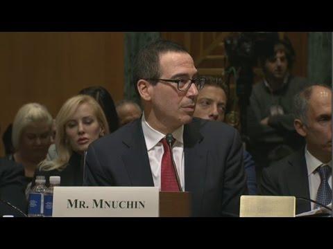 STEVEN MNUCHIN confirmation hearing for  TRUMP'S Treasury Secretar  (01/19/2017) Live Stream