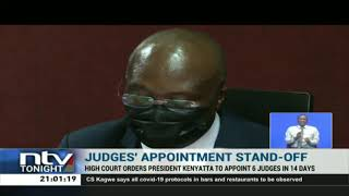 High court orders the president to swear in 6 judges in the next 14 days