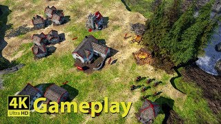 Bannermen - 4K GAMEPLAY [Medieval Real Time Strategy Game]