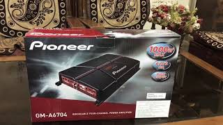 Pioneer Gm-A6704 unboxing four channel Amplifier (HINDI)