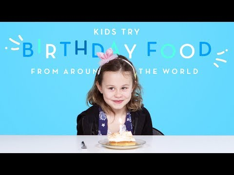 Kids Try Birthday Food from Around the World | Kids Try | HiHo Kids