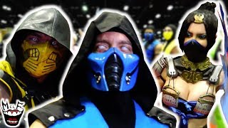 MORTAL KOMBAT FLASH MOB TAKES OVER COMIC CON! Insanely Epic Party Invasion Feat. Joker, Batman