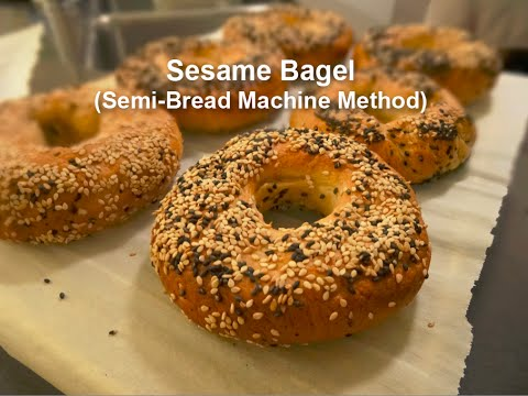 Make Bagel At Home With Semi-bread Machine Method