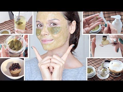 Secretos de la piel asiática: Rutina TÉ MATCHA | 6 DIYs ASIAN SKIN CARE SECRETS Matcha Tea Routine