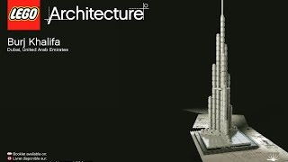 LEGO Architecture Burj Khalifa Dubai 21008 Instructions DIY