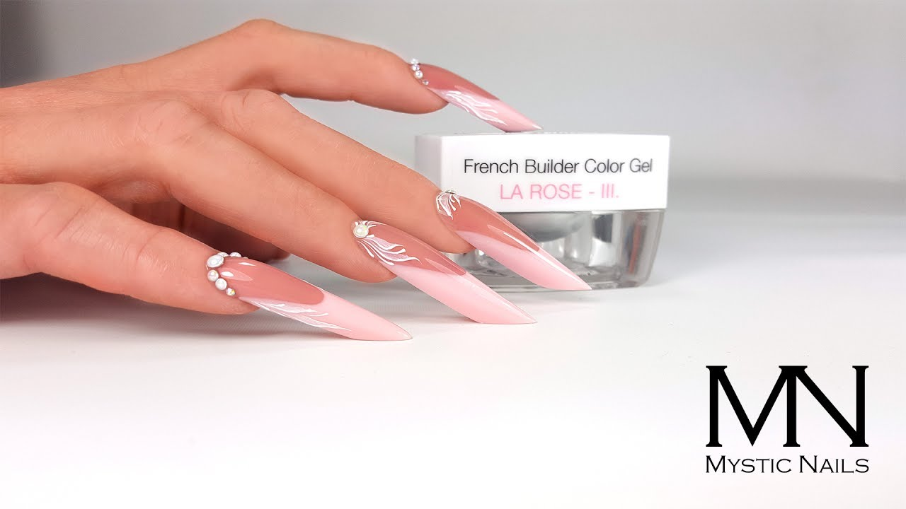 Mystic Nails - How to Build the French part of extreme nails fast ...