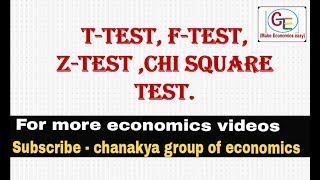 Some statistics tests, t-test, z-test, f-test and chi square test
