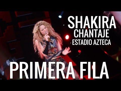 """Shakira """"Chantaje""""  Estadio Azteca PRIMERA FILA"""