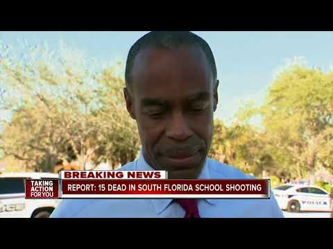 15 reported dead in school shooting in south Florida