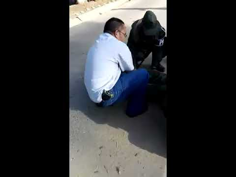 Esposa de mayor de la GNB atropello a Policia Militar (+Vídeo)