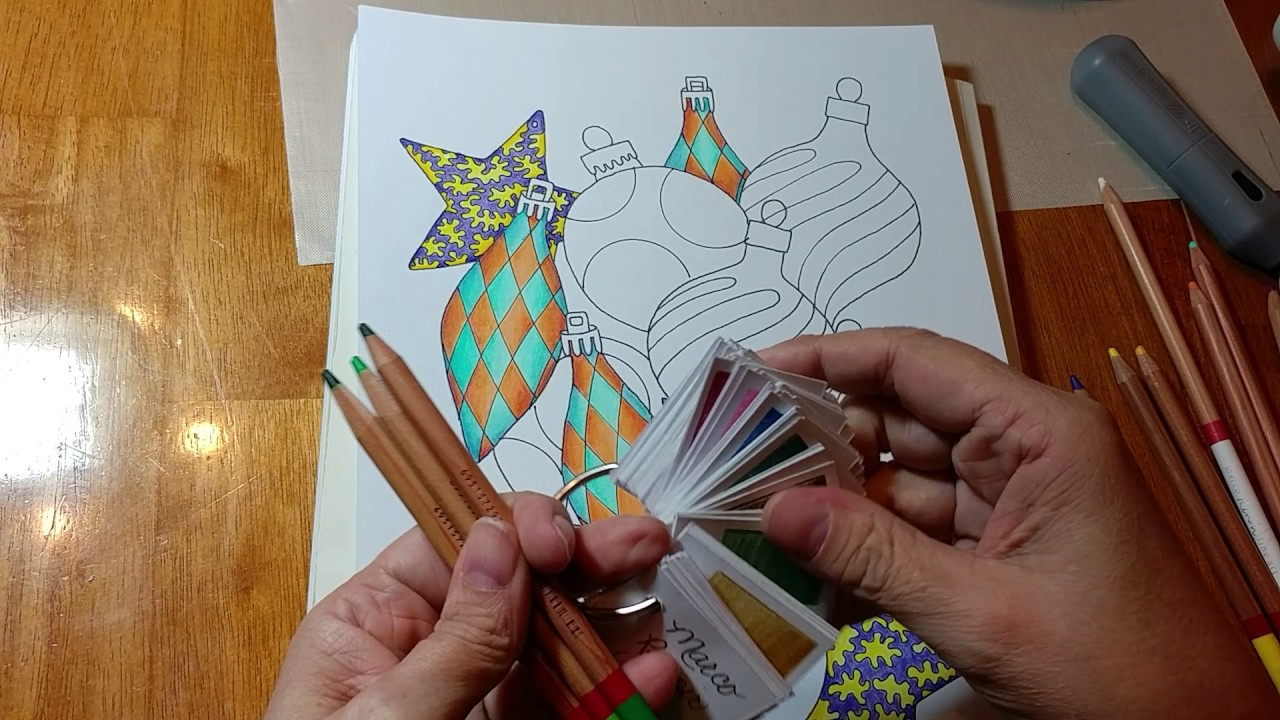 Ornaments Coloring Page Color Along ... Part 3 - YouTube