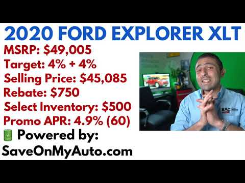 2020 Ford Explorer XLT Pricing & Discount Review
