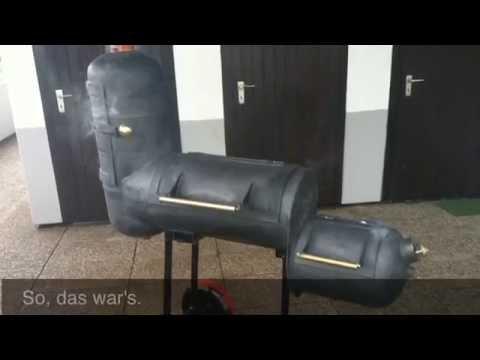smoker bbq grill eigenbau youtube. Black Bedroom Furniture Sets. Home Design Ideas