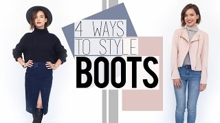 4 Ways to Style Boots // Fall Fashion