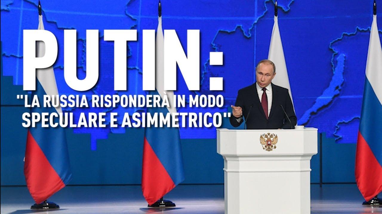 """PTV News - 21.02.19 - Putin: """"La Russia risponderà in modo speculare e asimmetrico"""""""