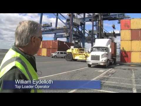 Container Cargo & Cranes At Ports America Baltimore