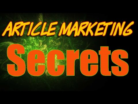 Article Marketing Secrets | Sales & Marketing Speaker | Frank Furness