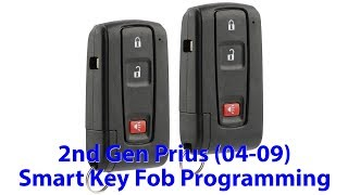 Programming Smart Key Fob Toyota Prius 2nd Gen (2004-2009) DIY