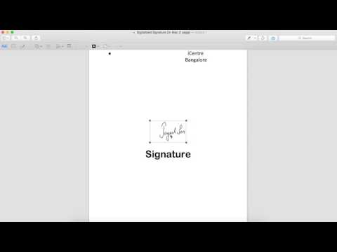 Imagine Bangalore   Jayesh Sen  Digitalised Signature For Mac