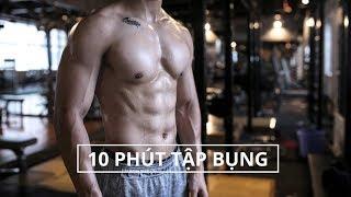 10 Phút Tập Bụng Săn Chắc Tại Nhà | Abs Workout Routine | SHINPHAMM