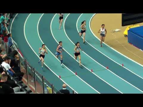 İstanbul U18 Taf Turkcell Salon Yıldızlar Türkiye Şampiyonası 400 metre kızlar 9. seri