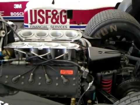 F1 Sound of Tyrrell Cosworth 012 DFV V8 Engine warming-up