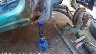 ремонт opel ascona c ч. 6 перекидання кузова для ремонтних робіт