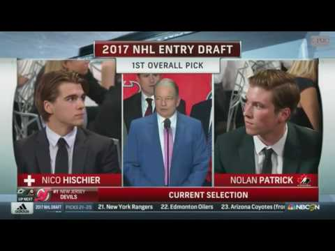 Nico Hischier Selected 1st Overall By New Jersey Devils 2017 NHL Draft