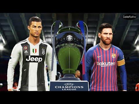PES 2019 - Barcelona vs Juventus - Final UEFA Champions League UCL - Messi vs Ronaldo
