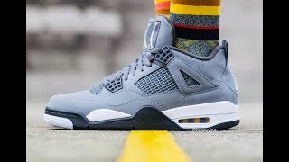 EARLY LOOK ON THE AIR JORDAN 4 COOL GREY!! THESE WILL SELL OUT QUICK!