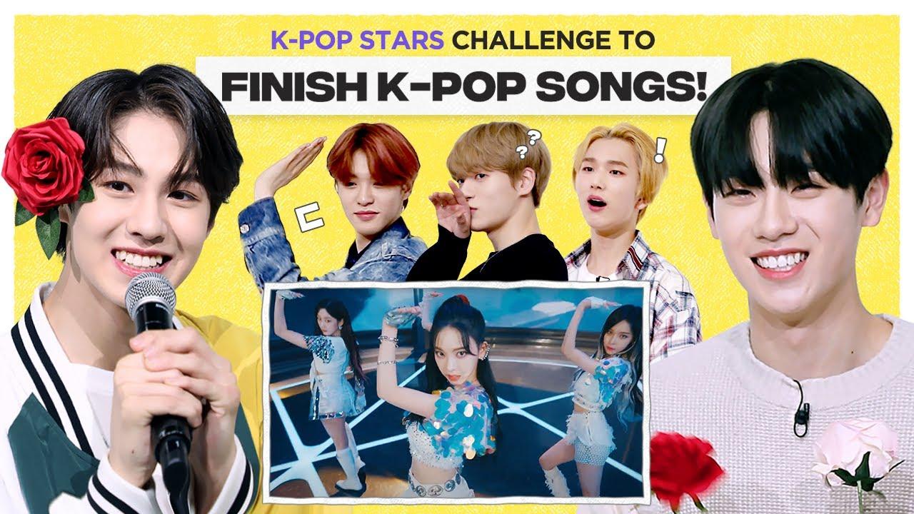 Can Kpop Group finish the lyrics of BTS, SKZ, NCT, & aespa?   FLC   EPEX