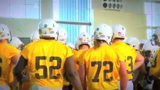 3.26.14 Football Spring Practice #1 Highlights