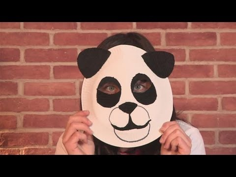 How To Make A Panda Mask & How To Make A Panda Mask - YouTube
