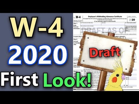 W-4 2020 Explained! (Detailed  First Look At 2020 W-4 IRS Draft Form!)