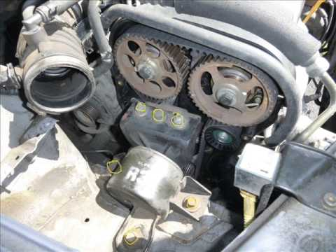 Chevrolet Aveo 2006 Timing belt replacement - YouTube