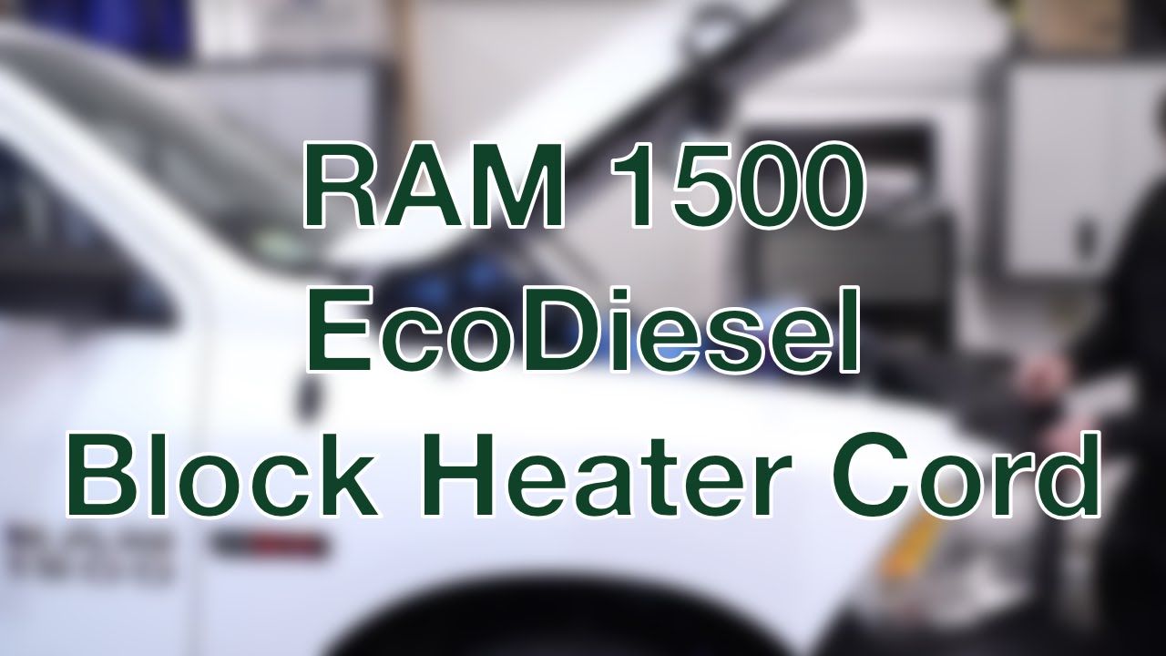 2015 Ram 2500 >> Ram 1500 Ecodiesel Block Heater Cord - YouTube