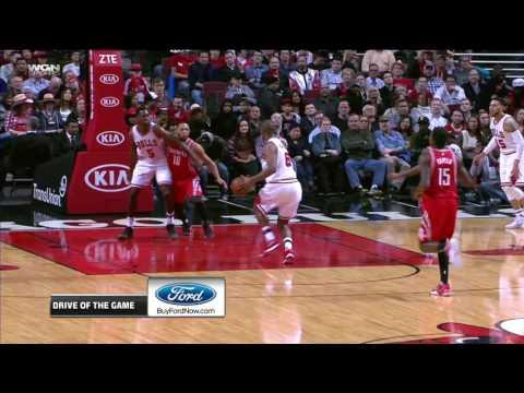 Cristiano Felicio  two-handed flush | Rockets vs Bulls | 3.10.17 | 16-17 NBA Season
