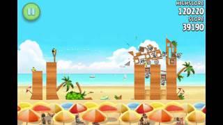 Angry Birds Rio - Golden Beach Ball - level 1
