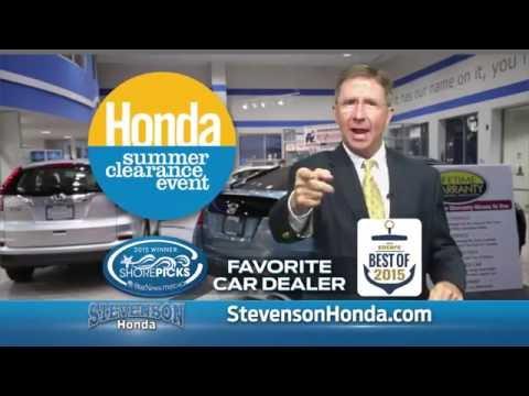 Stevenson Honda Wilmington Summer Clearance
